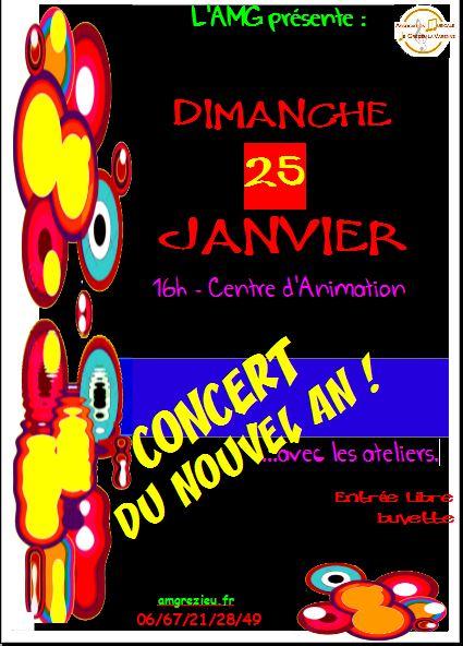 affichette concert 25 janvier 2015