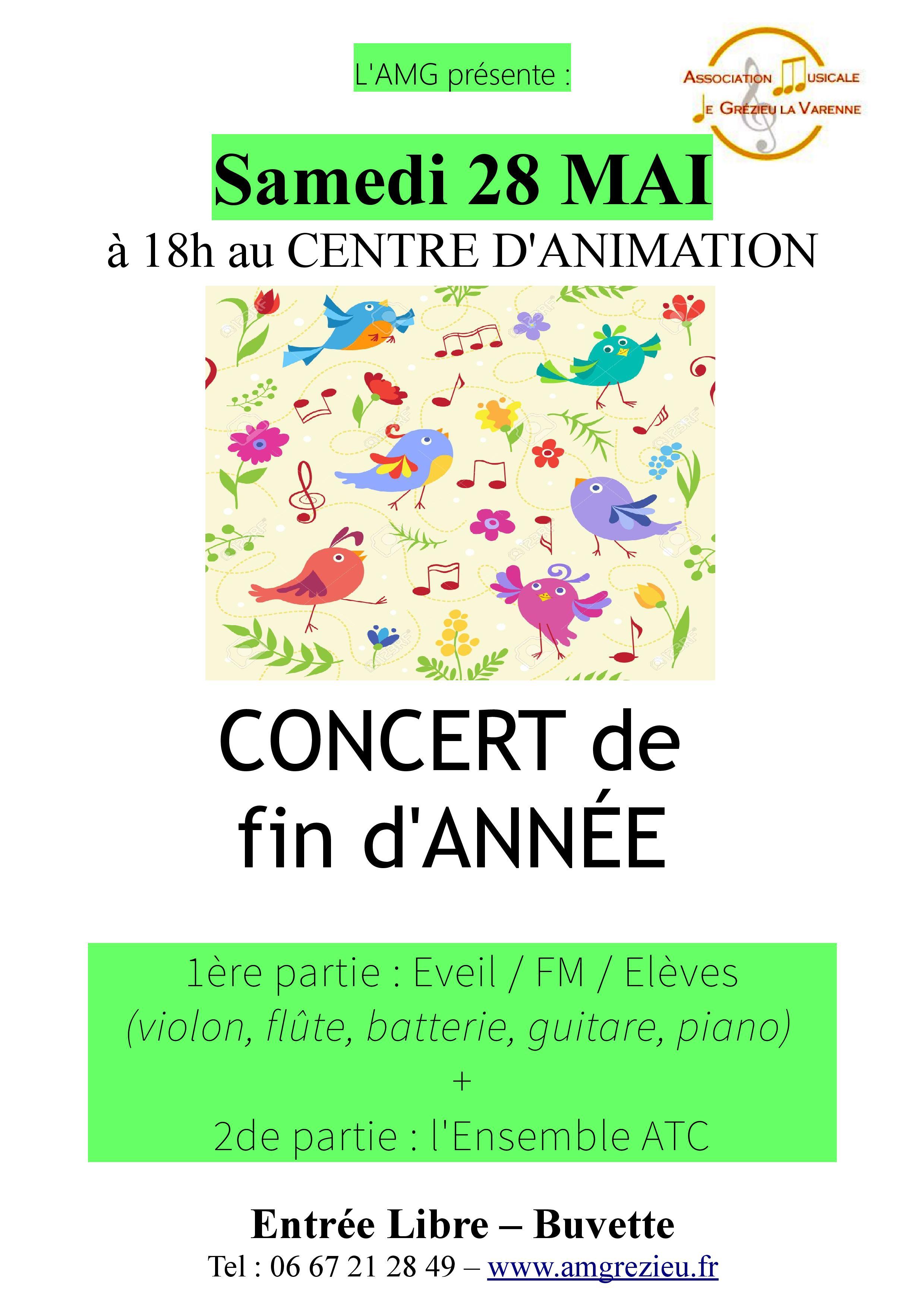 Affiche Concert AMG - 28 mai 2016